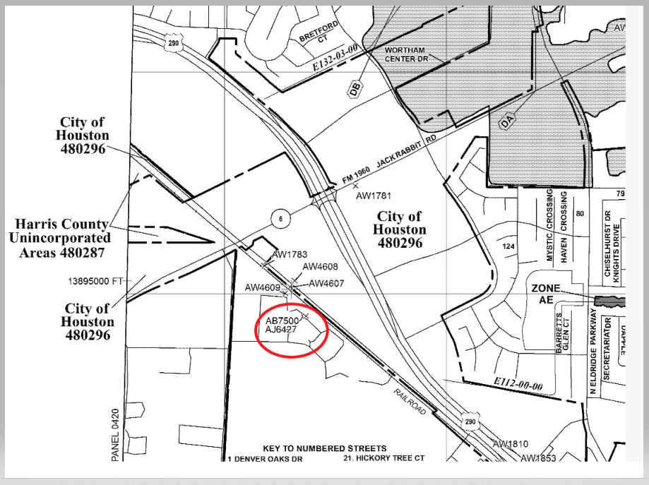 Excerpt from FEMA FIRM Map Number 48201C0440N. (Image: FEMA)