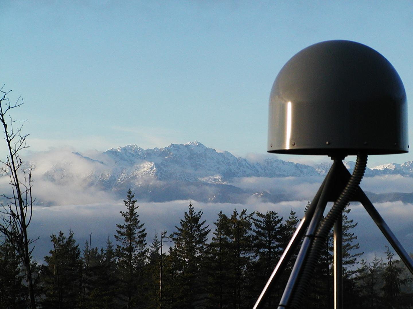 A GNSS station in the Pacific Northwest geodetic array. (Photo: Central Washington University)