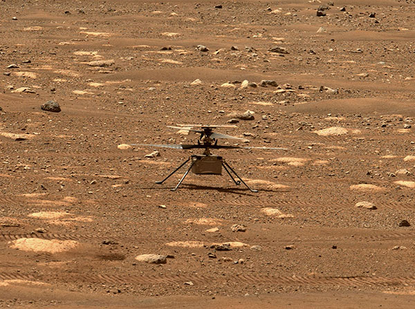 Integrity sits safely on Mars following an in-flight anomaly. (Photo: NASA)