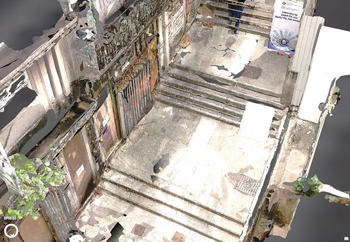 One of many narrow streets mapped in downtown Hong Kong. (Image: The Hong Kong Polytechnic University