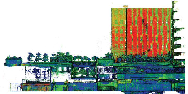 A sample point cloud from the mobile mapper. (Image: The Hong Kong Polytechnic University)