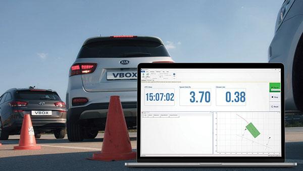 A test of Racelogic's parking assistance system. (Photo: Racelogic)