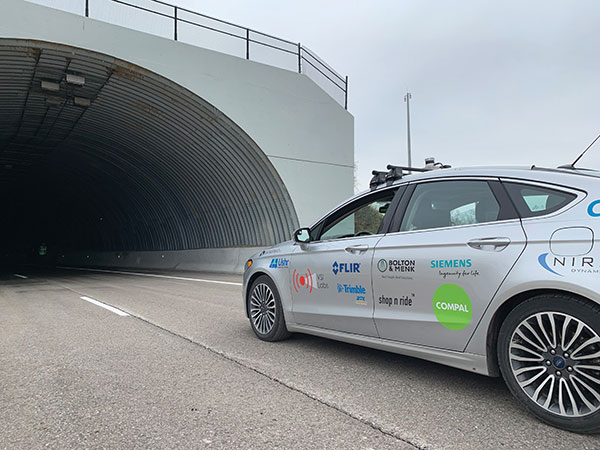 Autonomous vehicles are being tested both on open roads and in controlled environments. (Photo: Trimble)