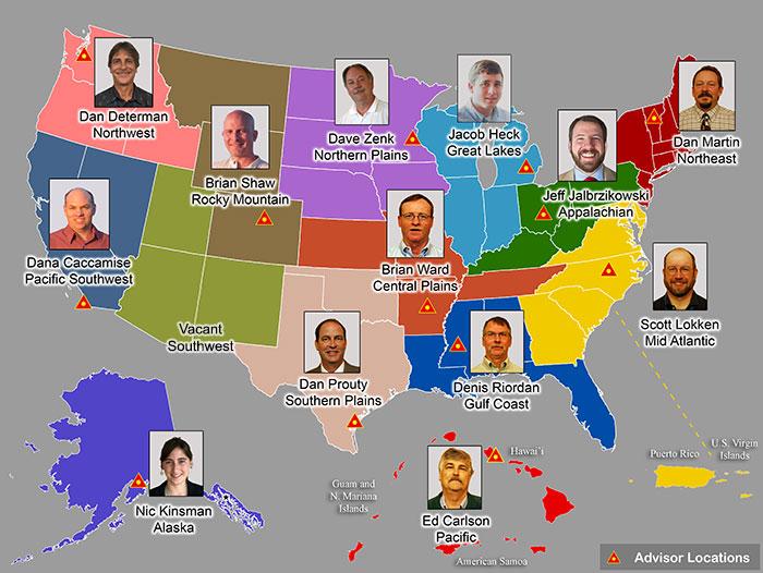NGS Regional Geodetic Advisors. (Image: NGS Website)