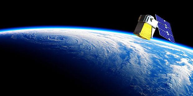 Artist's rendering of Loft Orbital's YAM-2 small satellite in orbit. The small sat will demo Fugro's PPP service. (Image: Loft Orbital)