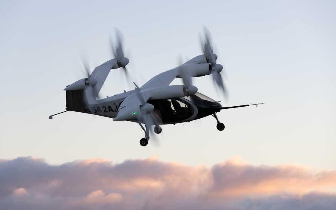 Joby eVtol in flight in Northern California. (Photo: Joby Aviation)
