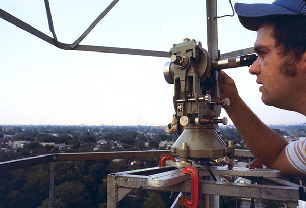 The T3 theodolite was introduced in 1925. With its 10.5-inch telescope, this theodolite had a range of up to 60 miles. It saw heavy use between 1952 and 1984. (Photo: NOAA)
