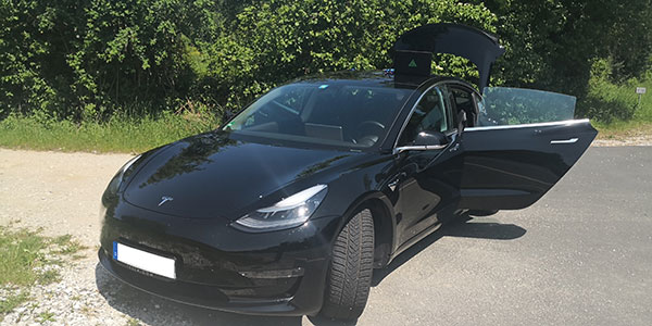 A Tesla Model 3 was remotely hacked in a test of a GPS spoofing attack. (Photo: Regulus Cyber)