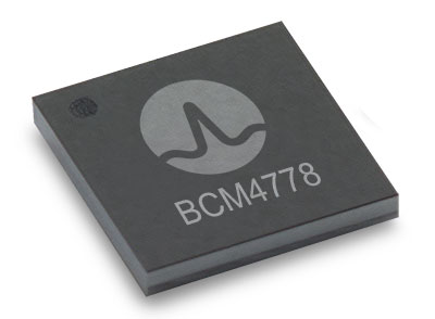 The BCM4778 dual-frequency chip is designed for small mobile and wearables. (Photo: Broadcom)