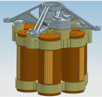 Integrity's lithium-ion battery, heaters and temperature sensors. (Diagram: Aerovironment)