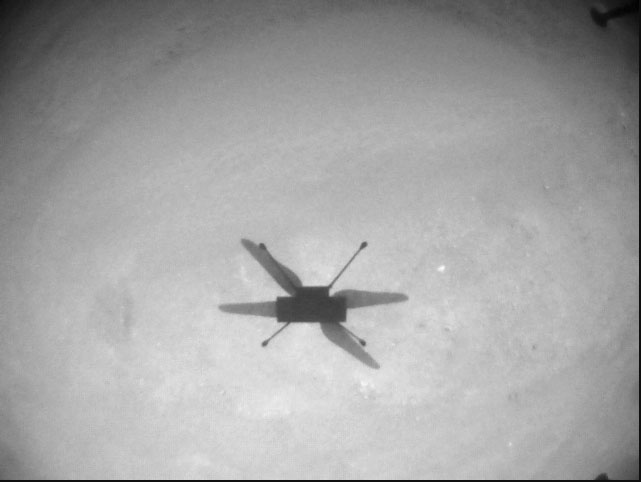 """Integrity takes a shadow """"selfie"""" during its13th flight. (Photo: NASA/JPL)"""