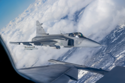 The Gripen E jet fighter built by Saab. (Photo: Saab)