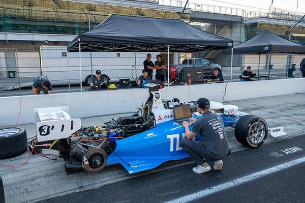 TUM Autonomous Motorsport preps its autonomous vehicle. (Photo: Indy Autonomous Challenge)