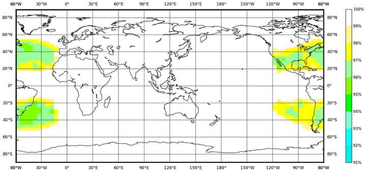 BDS Availability (PDOP≤6). (Image: BeiDou)