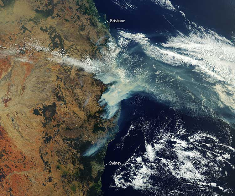 Satellite Photo: :ESA
