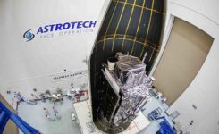 The second GPS III satellite is encapsulated before launch. (Photo: Lockheed Martin)
