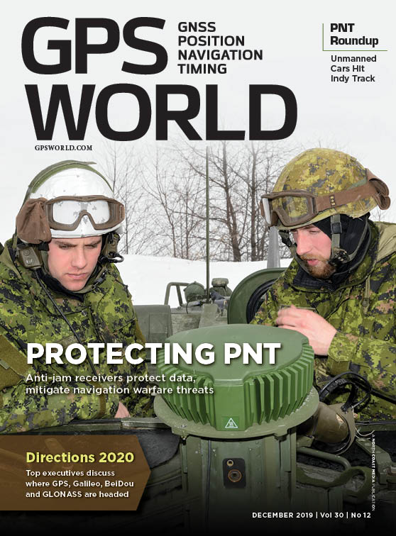 GPS World cover December 2019