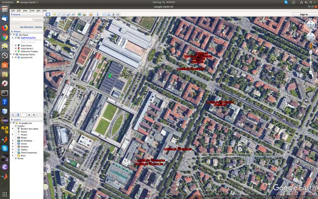 Figure 1. Misplaced Galileo and GPS+Galileo solutions. (Screenshot: Politecnico di Torino and LINKS Foundation)