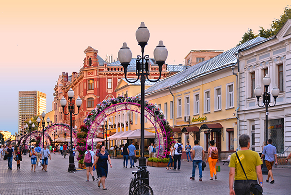 Moscow historical district. (Photo: poludziber/iStock Editorial/Getty Images Plus)