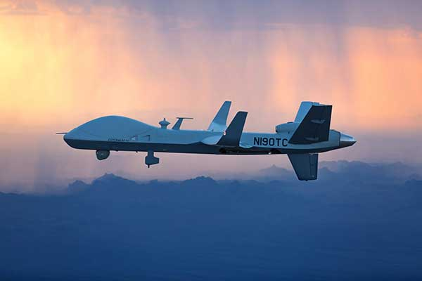 The MQ-9B SkyGuardian will participate in NASA-sponsored flight tests in 2020. (Photo: General Atomics Aeronautical Systems)