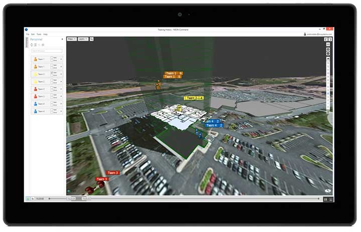 TRX Systems' NEON Personnel Tracker provides ubiquitous 3D location, tracking and mapping. (Screenshot: TRX Systems)