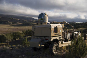 According to Raytheon, its HELWS uses energy to detect, identify, track and take down drones. (Photo: Raytheon)