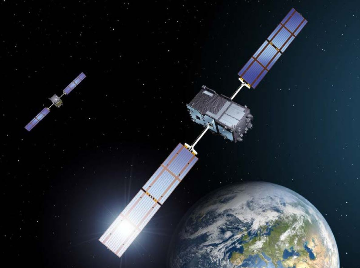 Figure 3. European Galileo satellites provide an open authentication service on the E1 signal and a commercial authentication service on the E6 signal. (Image: European Space Agency)