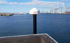 The GNSS antenna at TAPAS station TA01. (Photo: DTU Space)