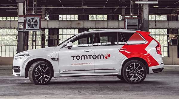 The TomTom autonomous test vehicle. (Photo: TomTom)