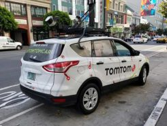 The TomTom test vehicle prototype hits the road in San Francisco. (Photo: Kevin Dennehy)