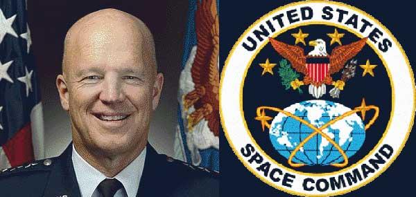 Photo: USAF; Emblem: USSPACECOM