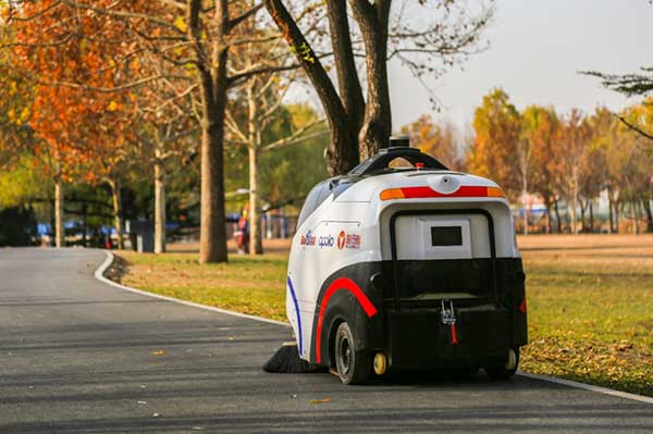 The sweeper in Beijing's Haidian Park. (Photo: Unicore)