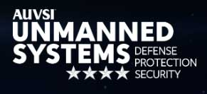 Logo: AUVSI Unmanned Systems—Defense. Protection. Security. (USDPS)