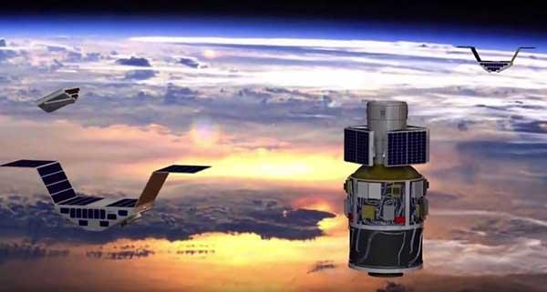 CYGNSS satellite launch. (Artist's concept/NASA)