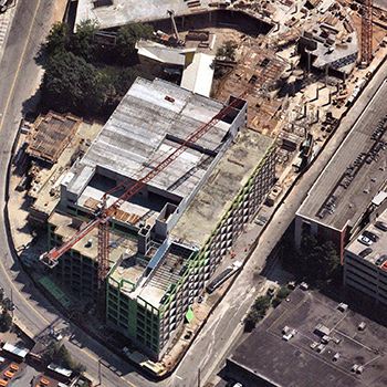 Oblique View of Commercial Construction Site - Atlanta, GA. (Photo provided by Nearmap)