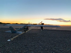 The E1 UAV completed 500 hours of successful flight testing and operations. (Photo: Silent Falcon UAS Technologies)