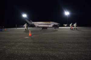 A X-37B lands at the Kennedy Space Center. (Photo: USAF)